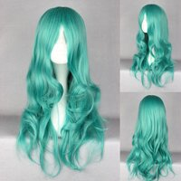 Ladieshair Cosplay Perücke türkis 65cm lockig Sailor Moon...