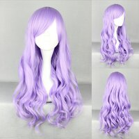 Ladieshair Cosplay Perücke lila 70cm lockig