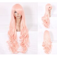 Ladieshair Cosplay Perücke pink 80cm lockig Macross...