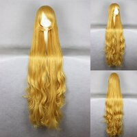 Ladieshair Cosplay Perücke blond 150cm wellig GOSICK...