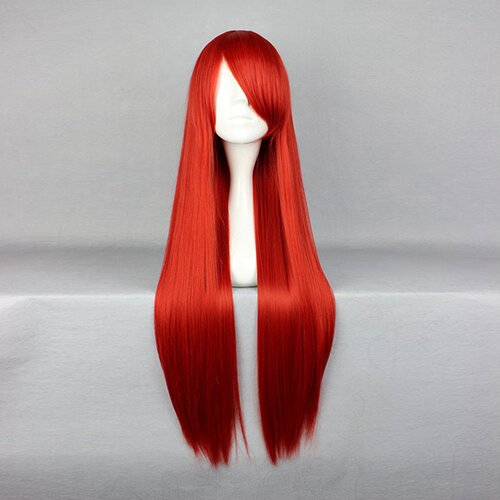 Perücke Rot 80cm lang Fairy Tail - Erza Scarlet Red