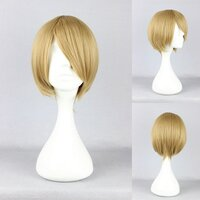 Ladieshair Cosplay Perücke blond 35cm glatt