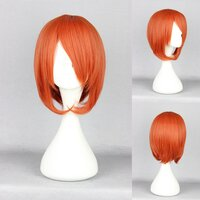 Ladieshair Cosplay Perücke orange 35cm glatt Angel Beats...