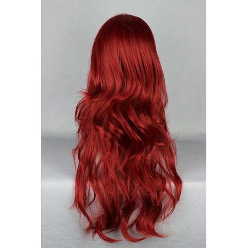 Ladieshair Cosplay Perücke rot 65cm wellig