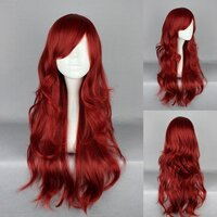 Ladieshair Cosplay Per�cke rot 65cm wellig