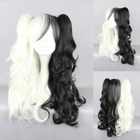 Ladieshair Cosplay Perücke schwarz blond 70cm wellig...