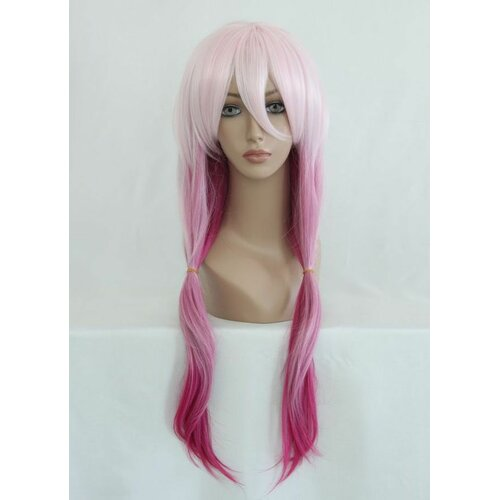 Ladieshair Cosplay Perücke rosa 70cm wellig Guilty Crown Yuzuriha Inori