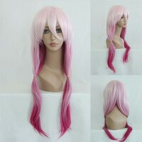 Ladieshair Cosplay Perücke rosa 70cm wellig Guilty Crown...