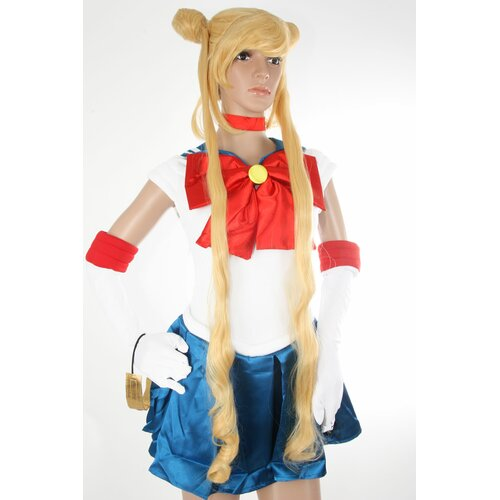 Ladieshair Cosplay Perücke blond 100cm glatt Sailor Moon Bunny Usagi Tsukino