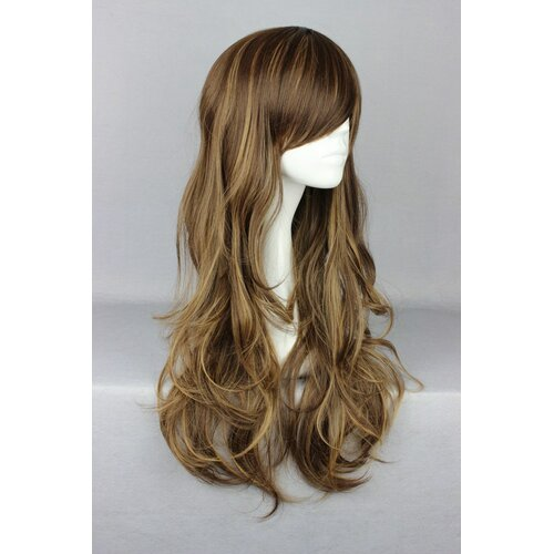Ladieshair Cosplay Perücke braun 75cm wellig