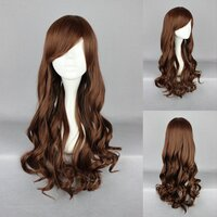 Ladieshair Cosplay Perücke braun 70cm lockig
