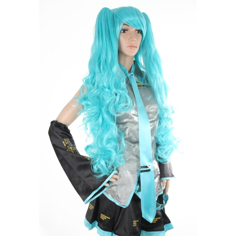 W-17-BC46 blau blue 60cm COSPLAY Perücke WIG Perruque Haare Hair Anime Manga