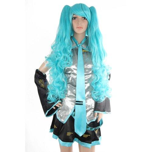 Perucke Hatsune Miku Vocaloid Turkis Cosplay Manga Anime 75cm