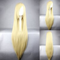 Ladieshair Cosplay Perücke blond 100cm glatt Umineko no...