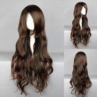 Ladieshair Cosplay Perücke dunkelbraun 65cm wellig No.6...