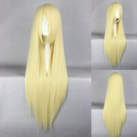 Ladieshair Cosplay Perücke blond 80cm glatt loveless...