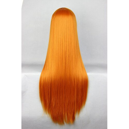 Ladieshair Cosplay Perücke orange 80cm glatt EVA Asuka