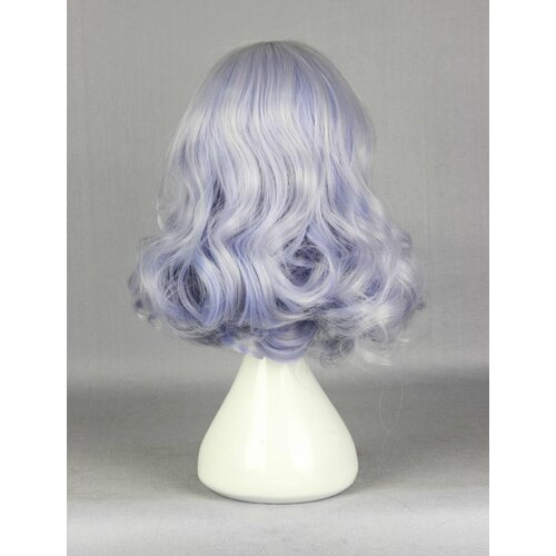 Ladieshair Cosplay Perücke grau blau 40cm Amagi Brilliant Park - Muse