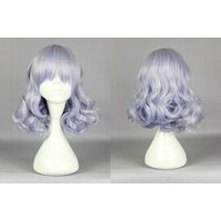 Ladieshair Cosplay Perücke grau blau 40cm Amagi Brilliant...