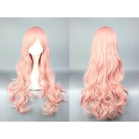 Ladieshair Cosplay Perücke rosa 70cm Cute High Earth...