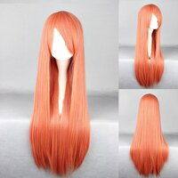 Ladieshair Cosplay Perücke rot orange 80cm glatt