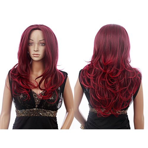 Ladieshair Front Lace Wig Perücke Rot 55cm