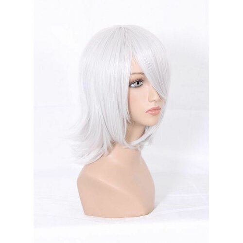 Ladieshair Cosplay Perücke D.Gray-man - Allen Walker silber grau 35cm