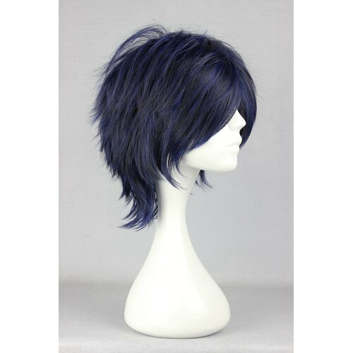 Ladieshair Cosplay Perücke The Prince of Tennis - Seiichi Yukimura Dunkelblau 35cm