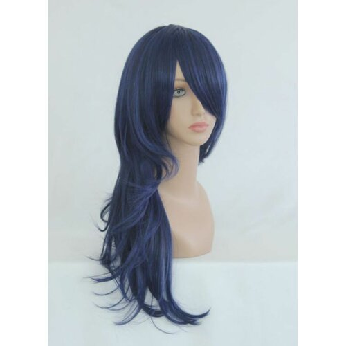 Ladieshair Cosplay Perücke The Prince of Tennis - Shinji Ibu Dunkelblau 65cm